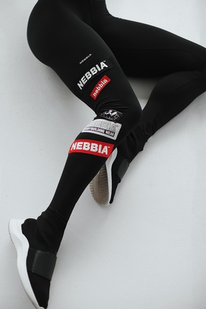 High waist NEBBIA Labels leggings 504 black NEBBIA