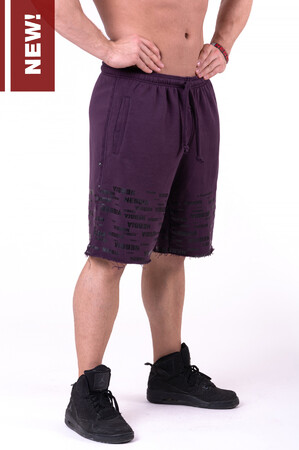 Спортивные мужские шорты Raw Hem Street Shorts bordeaux 151 NEBBIA