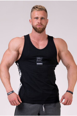 "Спортивная майка Tank Top ""Your potential is endless."" Black 174 NEBBIA"