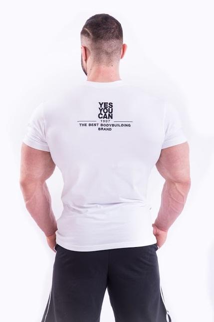 Спортивная мужская футболка T-SHIRT 396 white NEBBIA