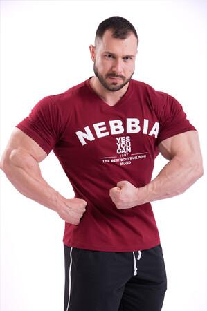 Спортивная мужская футболка T-SHIRT 396 red NEBBIA