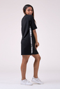Playful Restday Oversized dress 522 black NEBBIA