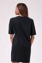 Playful Restday Oversized dress 522 black NEBBIA