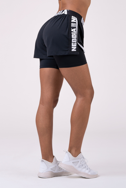 Fast&Furious Double Layer shorts 527 black NEBBIA