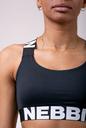Power Your Hero iconic sports bra 535 black NEBBIA