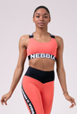 Power Your Hero iconic sports bra 535 peach NEBBIA