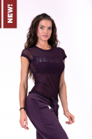 Футболка для фитнеса Flash-Mesh T-shirt 665 bordeaux