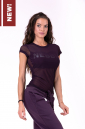 Футболка для фитнеса Flash-Mesh T-shirt 665 bordeaux NEBBIA