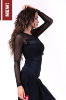 Женская футболка Flash-Mesh longsleeve shirt 664 black