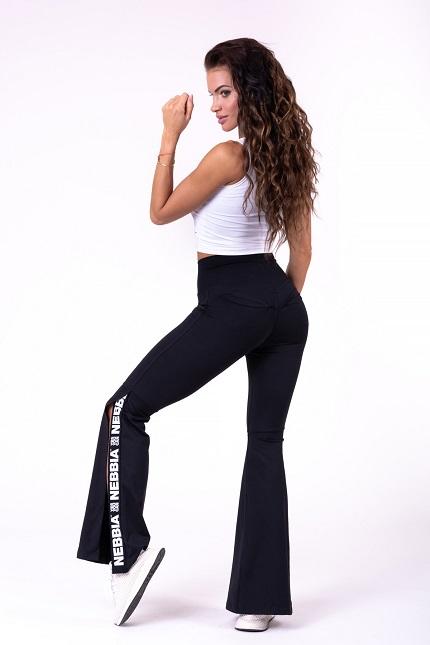 Леггинсы-клёш 70's Fancy flared pants 667 black  NEBBIA