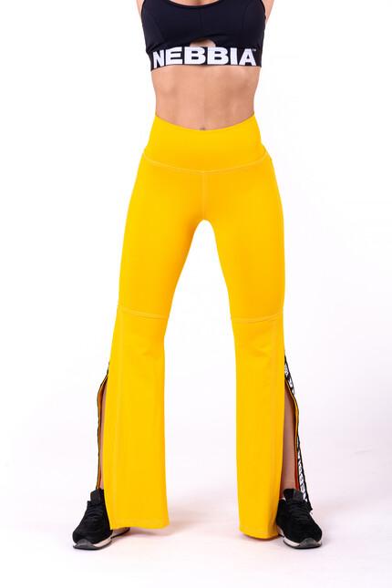 Леггинсы-клёш 70's Fancy flared pants 667 yellow NEBBIA