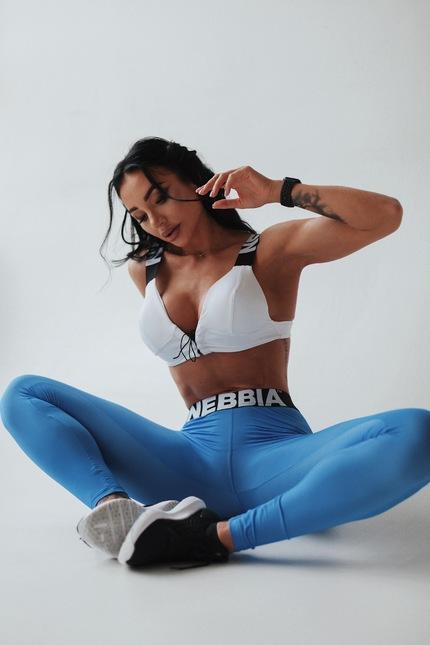 Cпортивный топ Lace-up sport bra 694 white NEBBIA