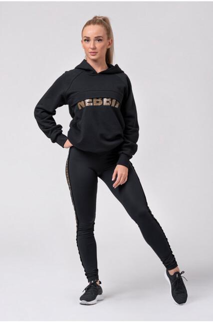 """Long hoodie """"INTENSE FOCUS"""" 825 NEBBIA"""