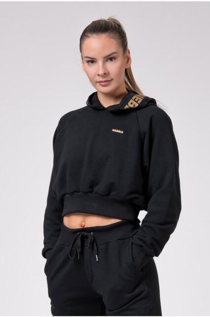 Golden Cropped hoodie 824 NEBBIA