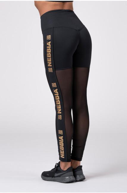 Gold Mesh leggings 829 NEBBIA