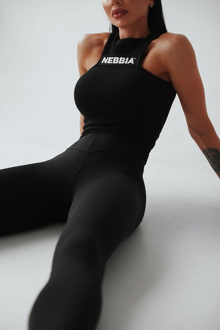 Sports NEBBIA Labels crop top 516 black NEBBIA