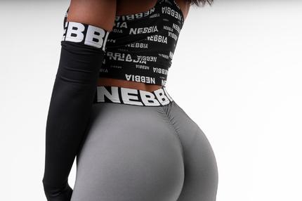 Леггинсы Scrunch butt Nebbia 691 серые NEBBIA