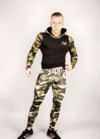 Спортивная мужская кофта AW 116 green