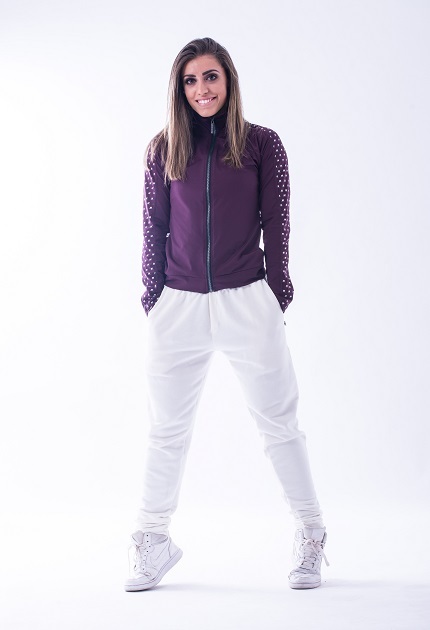 "Олимпийка Nebbia ""Ns"" Jacket 654 bordeux NEBBIA"