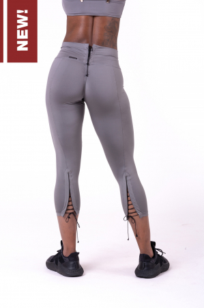 Леггинсы Lace-up 7/8 leggings 661 grey NEBBIA