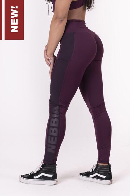 Леггинсы Flash-Mesh leggings 663 borgundy NEBBIA