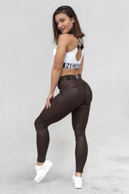Leather Look Bubble Butt pants 538 NEBBIA