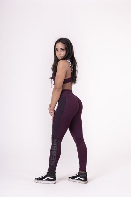 Леггинсы Flash-Mesh leggings 663 borgundy NEBBIA