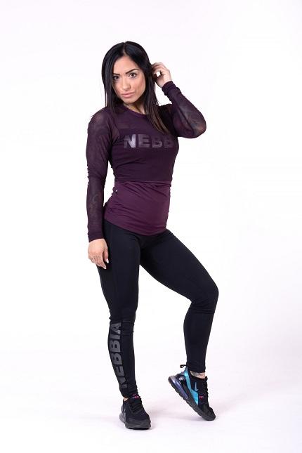 Женская футболка  Flash-Mesh longsleeve shirt 664 bordeaux NEBBIA