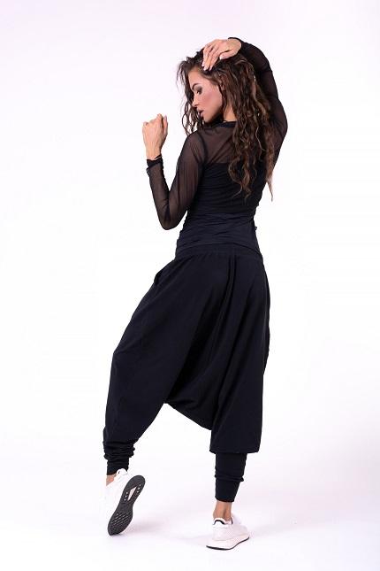 Женская футболка Flash-Mesh longsleeve shirt 664 black NEBBIA