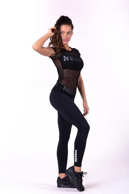 Футболка для фитнеса Flash-Mesh T-shirt 665 black NEBBIA