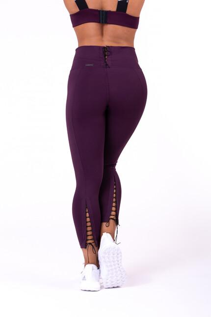Леггинсы Lace-up 7/8 leggings 661 burgundy NEBBIA