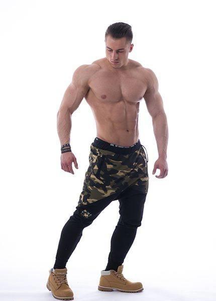 Спортивные  штаны Nebbia camo AW 117 green NEBBIA