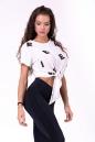 "Футболка для фитнеса Tied knot ""Letters"" T-shirt 680 NEBBIA"